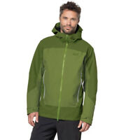 Jack Wolfskin Mens North Slope Jacket Top Green Sports Outdoors Full Zip Hooded