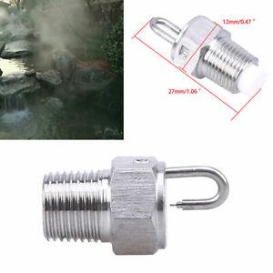 "1/8"" Stainless Steel Mist Nozzle Sprinkler Threaded Fogging Spray Cooling System"