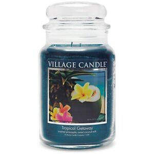 Village Candle Double Wick Large Candle Jar - Tropical Getaway