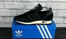 BNWB & Genuine Adidas Originals LA Trainer OG Black Retro Sneakers UK Size 8