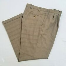 Barry Bricken 38 x 32 Wool Brown Check Plaid Suit Pants S
