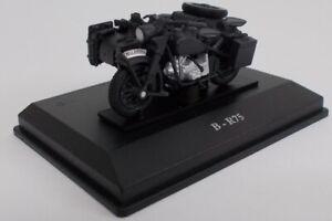 CAR245A - Moto side-car BMW B-R75 de couleur noir -  -