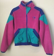 The North Face Extreme Z Vintage Womens Fleece Teal Pink Multicolor Size 10 Rare