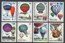 Rwanda 1984 Vol habité/ballons à air 8 V Set (n22237)