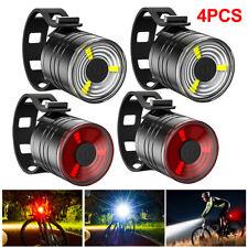 4Stk LED Fahrradlicht Set Fahrradbeleuchtung Scheinwerfer Vorne Hinten Lampe