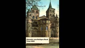 Chronik vom Heiligen Rock Trier 1959 Schallbildkarte Schallplattenansichtskarte