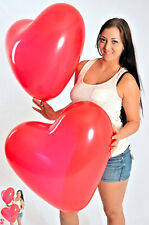 10x Riesen- HERZ- Luftballons 60cm Ø ! ROT ! * Riesen- Ballon ROT * Hochzeit *