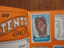 BRAVES 1969 Topps Stamp Album(Com-with/HANK AARON/CLETE BOYER/JOE TORRE/RON REED