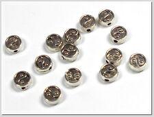 20 Metallperlen Yin Yang 7*3mm flach rund antik silber