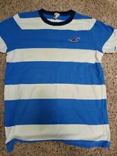 Hollister t-shirt Mens medium blue and white stripes