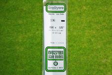 EVERGREEN STRIP STYRENE WHITE Plasticard .030 x .125 #136
