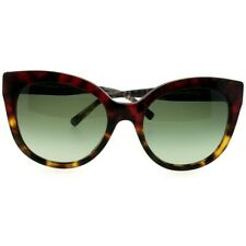 Burberry Be4243-36358E Cat Eye Women's Havana Frame Green Lens Sunglasses Nwt
