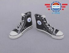 1/6 scale Converse Chuck High Top BLACK sneaker shoes for 12'' MALE figure