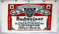 Rare c.1970's Nos Adverising Budweiser Label Beach Towel Bud King of Beers Logo