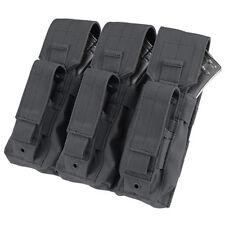 Condor MA72 Black MOLLE Modular Triple Kangaroo 7.62 Rifle/Pistol Magazine Pouch