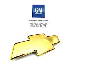 OEM NEW Front Bumper Grille Gold Bowtie Emblem Badge 03-07 Chevrolet 12335700