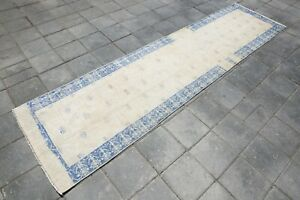 RUNNER RUG oushak 3x12 turkish runner rug halway runner,  3'0x11'5 ft 5146