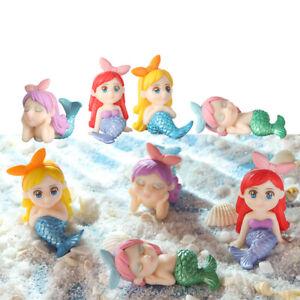 Garden Bonsai Ornament Miniature Mermaid Figurines Micro Landscape Animal Model