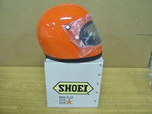 Vintage NOS Shoei S12 S 12 Motorcycle Full Face Racing Helmet Medium Orange
