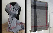 fbc817f64dc Echarpe Homme Noir gris Motifs Géométrique 70 Cachemire 30 laine 53 x 188 cm