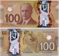 Canada 100 Dollars 2011/2016 P 110 SIGN WILKINS & POLOZ Polymer UNC