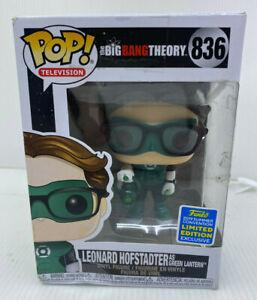 Pop TV Big Bang Theory Leonard as Green Lantern 836 In Box Funko 889698417082