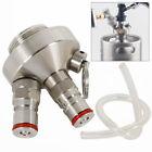 Keg Beer Dispenser 2 Ball Lock Connections for Mini Casks 304 Stainless Steel US