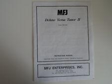 Mfj -948 Deluxe Versa Tuner 11 (Sólo Manual de instrucciones)... radio _ trader _ Irlanda.