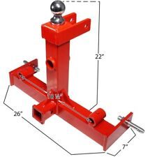 Real Sturdy Red Tractor Trailer Hitch Gooseneck Receiver 3 Point Hay Attachment