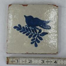 Tile Blue Bird Red-Ware with Stoneware Look Primative Folk Art Ceramic Trivet