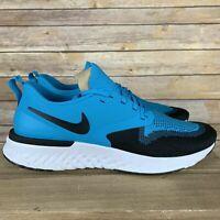 Nike Odyssey React 2 Flyknit Blue Lagoon Mens Running Shoes AH1015-402 SZ 10.5 *