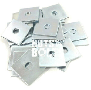 M8 M10 M12 M16 50mm x 50mm x 3/5mm THICK SQUARE PLATE WASHERS ZINC PLATED 40 x40