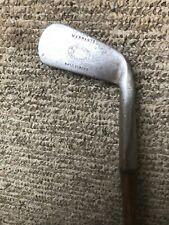 Unusual face forward anti-shank M. McDaid smooth face hickory golf club