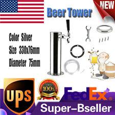 Single Tap Draft Beer Tower Faucet Kegerator Tower Homebrew Stainless Steel Bar