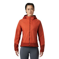 Mountain Hardwear Womens Kor Cirrus Hybrid Hooded Jacket Top Orange Sports