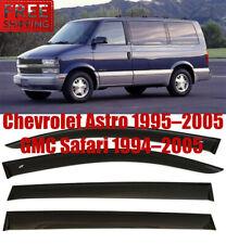 For Chevrolet Astro Safari 95-05 Window Black Visor Rain Sun Guard Deflectors