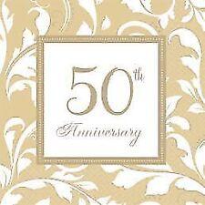 Servietten Goldene Hochzeit Napkins Papierservietten Motiv Serviette Tischdeko