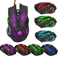 6 Button 3200 DPI LED Optical USB Wired Gaming PRO Mouse Mice For PC LaptWR