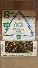 Vintage Boxed Bradford Gold Bell's Plastic Garland Christmas Decoration 8ft Long