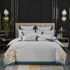 Embroidery 80S Egyptian Cotton Bedding Set Duvet Cover Set Bed Sheet Pillowcases