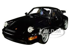 PORSCHE 964 TURBO BLACK 1/24-1/27 DIECAST MODEL CAR BY WELLY 24023