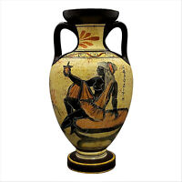 Greek Ceramic AMPHORA Jar Vase Pot Vessel Painting Goddess Aphrodite 8.66 in