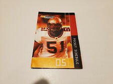 Rs20 Bc Lions 2005 Cfl Football Pocket Schedule - Molson Canadian & Others