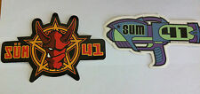 SUM 41 2-Pack of Stickers Devil Head & Raygun Logo NEW OFFICIAL MERCHANDISE