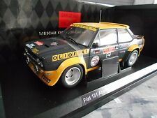 FIAT 131 Abarth Rallye WM San Remo 1977 #5 Röhrl Olio Fiat UMBAU Kyosho 1:18