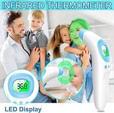 Digital LCD Infrarot Fieberthermometer Stirn und Ohr Kontaktlos Baby Erwachsene