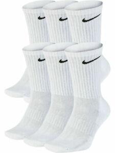 Nike Everyday Cushioned Dri-FIT 6-8 Socks - 6 Pairs, White (SX7666-100)