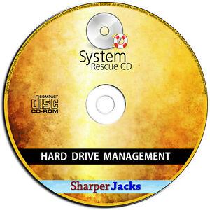NEW & Fast Ship! System Rescue CD - Repair / Restore Hard Drive Data Loss Disc