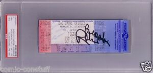 Brooks Robinson signed Orioles Memorial Stadium last game ticket PSA/DNA PSA 9
