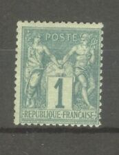 "FRANCE STAMP TIMBRE N° 61 "" TYPE SAGE 1c VERT "" NEUF xx TB"